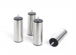 Pieds cylindriques inox